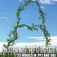 Alphabet Vegetation 3D Models designfera
