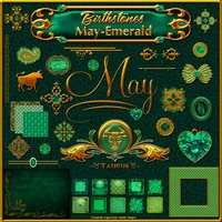 Birthstone Bling!: May-Emerald 2D And/Or Merchant Resources Themed fractalartist01
