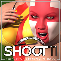 SHOOT 11: EURO Fever Bodypaintings 3D Figure Assets 2D Graphics outoftouch
