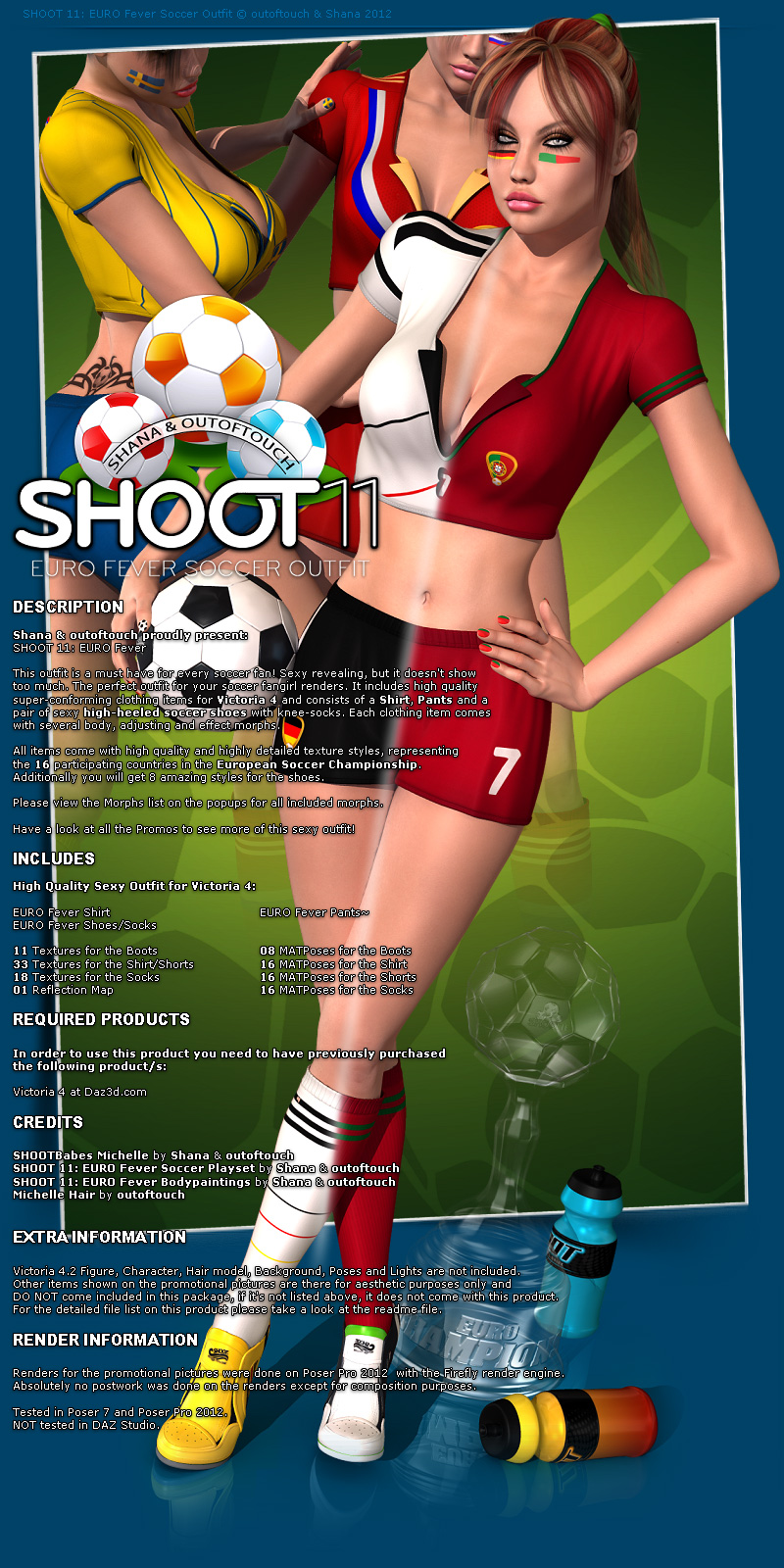 SHOOT 11: EURO Fever Soccer Outfit