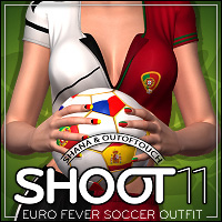 SHOOT 11: EURO Fever Soccer Outfit 3D Figure Essentials outoftouch
