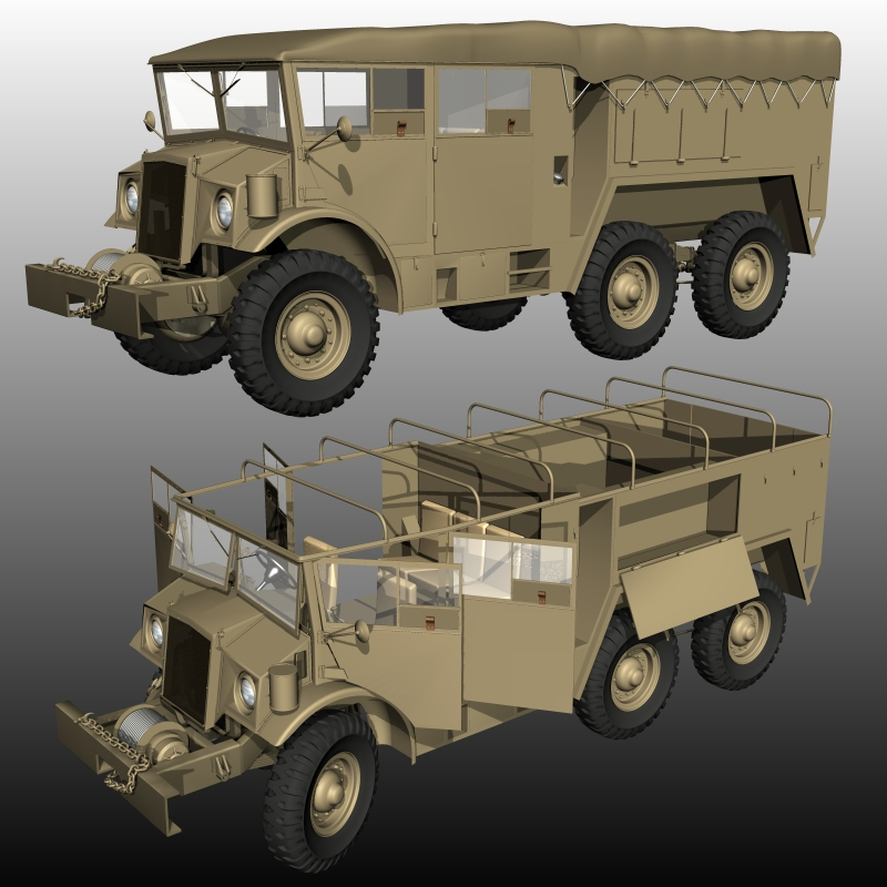 CMP FIELD ARTILLERY TRACTOR  6X6 ( for Poser )
