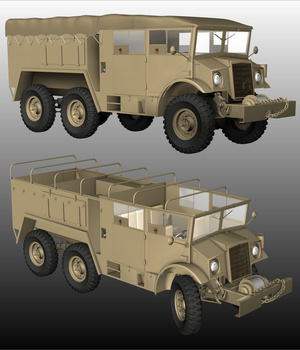 CMP FIELD ARTILLERY TRACTOR  6X6 ( for Poser ) by Nationale7