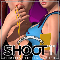 SHOOT 11: EURO Fever Referee Outfit 3D Figure Assets outoftouch