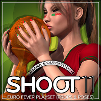 SHOOT 11: EURO Fever Playset - Props and Poses 3D Figure Assets 3D Models outoftouch