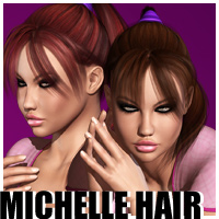 Michelle's Ponytail Hair 3D Figure Essentials outoftouch