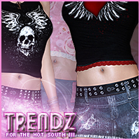 Trendz for Hot South III 3D Figure Assets Sveva