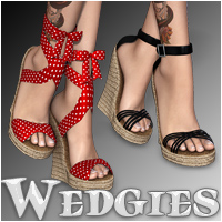 Wedgies 3D Figure Assets Silver
