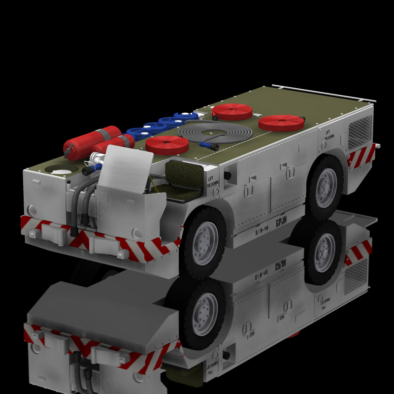 US Navy Carrier Fire Tractor (for Poser)