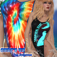 Surf's Up - Fun Swimwear 3D Figure Assets kaleya