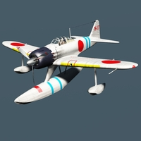 NAKAJIMA A6M2-N RUFE  and pilot ( for Vue ) 3D Models Nationale7