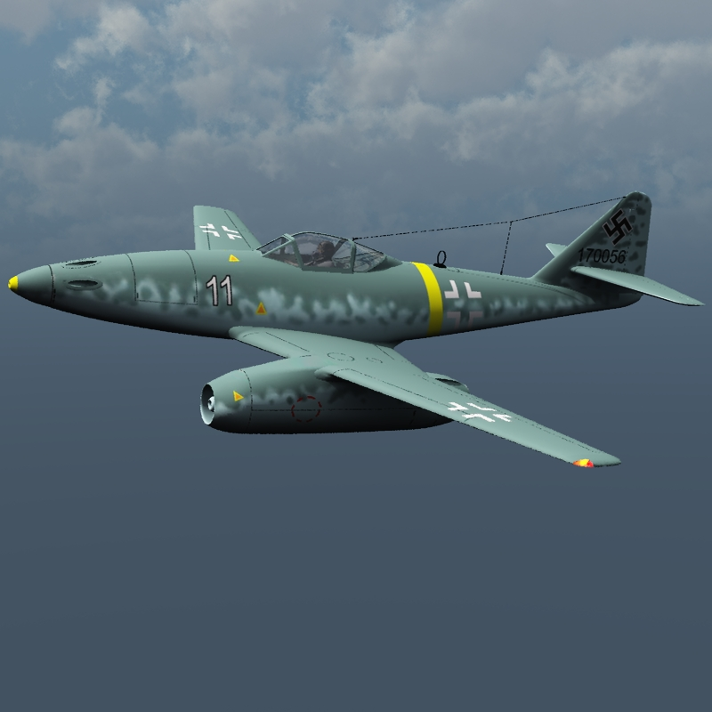 Messerschmitt Me 262 and pilot ( for Vue )