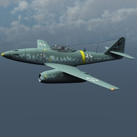 Messerschmitt Me 262 and pilot ( for Vue )  Software 3D Models Nationale7