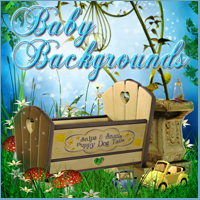 Baby Backgrounds Themed 2D And/Or Merchant Resources -Melkor-