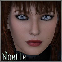 Sabby-Noelle for V4 and Genesis 3D Figure Essentials Sabby