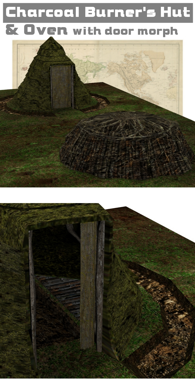 Charcoal Burner's Hut and Oven