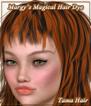 Margy's Magical Hair Dye for Tama Hair 3D Figure Assets MargyThunderstorm