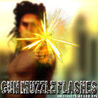 Gun Muzzle Flashes Themed 2D And/Or Merchant Resources designfera