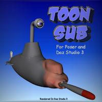 Toon Sub 3D Models pappy411