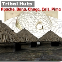 Tribal Huts Themed Props/Scenes/Architecture IanMPalmer