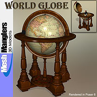 World Globe 3D Models keppel