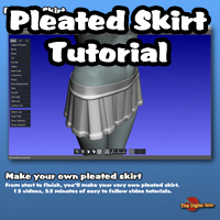Pleated Skirt Tutorial Tutorials : Learn 3D Fugazi1968