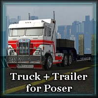 MM Poser Truck 3D Models Mike2010