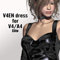 V4EN dress for V4A4 3D Figure Assets kobamax