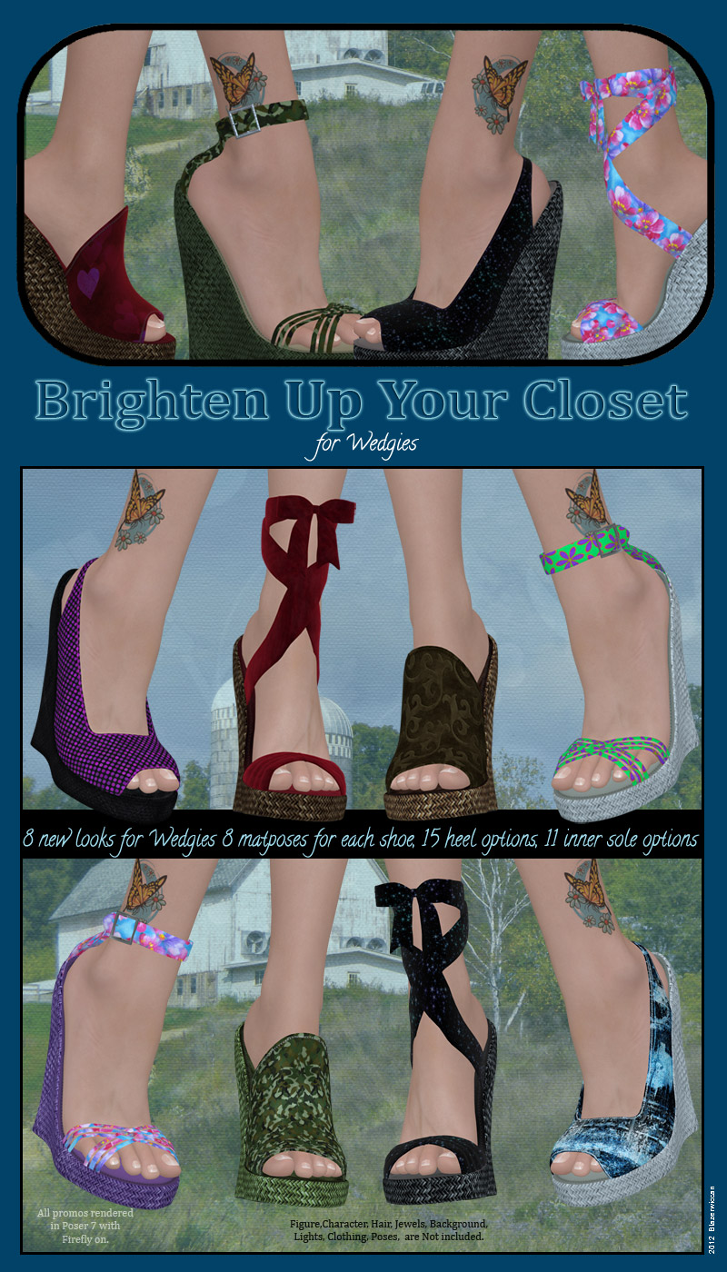 Brighten Up Your Closet Wedgies