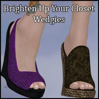 Brighten Up Your Closet Wedgies  Blazerwiccan