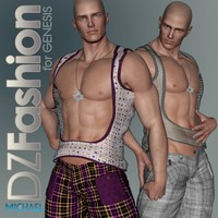 DZ Fashion Set 5 for Genesis 3D Figure Assets dzheng
