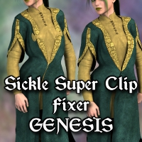 Sickle Super Clip Fixer Genesis 3D Figure Essentials SickleYield