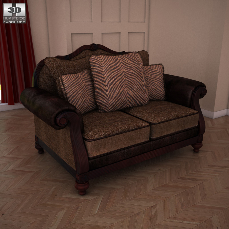 Loveseat Key Town - 3D Model