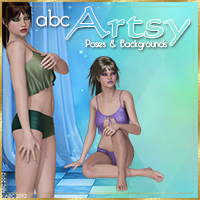 ABC Artsy Themed 2D And/Or Merchant Resources Poses/Expressions Software Bez
