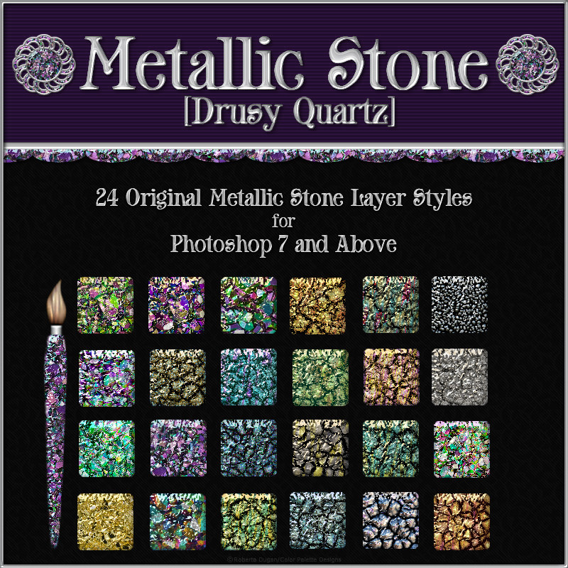 Drusy Quartz [Metallic Stone] Layer Styles