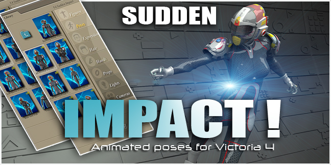 Sudden impact animated poses for V4