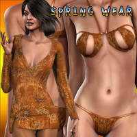 Spring Wear Dressing Bundle (V4.2 Elite,A4,S4,G4) 3D Figure Assets jasmina