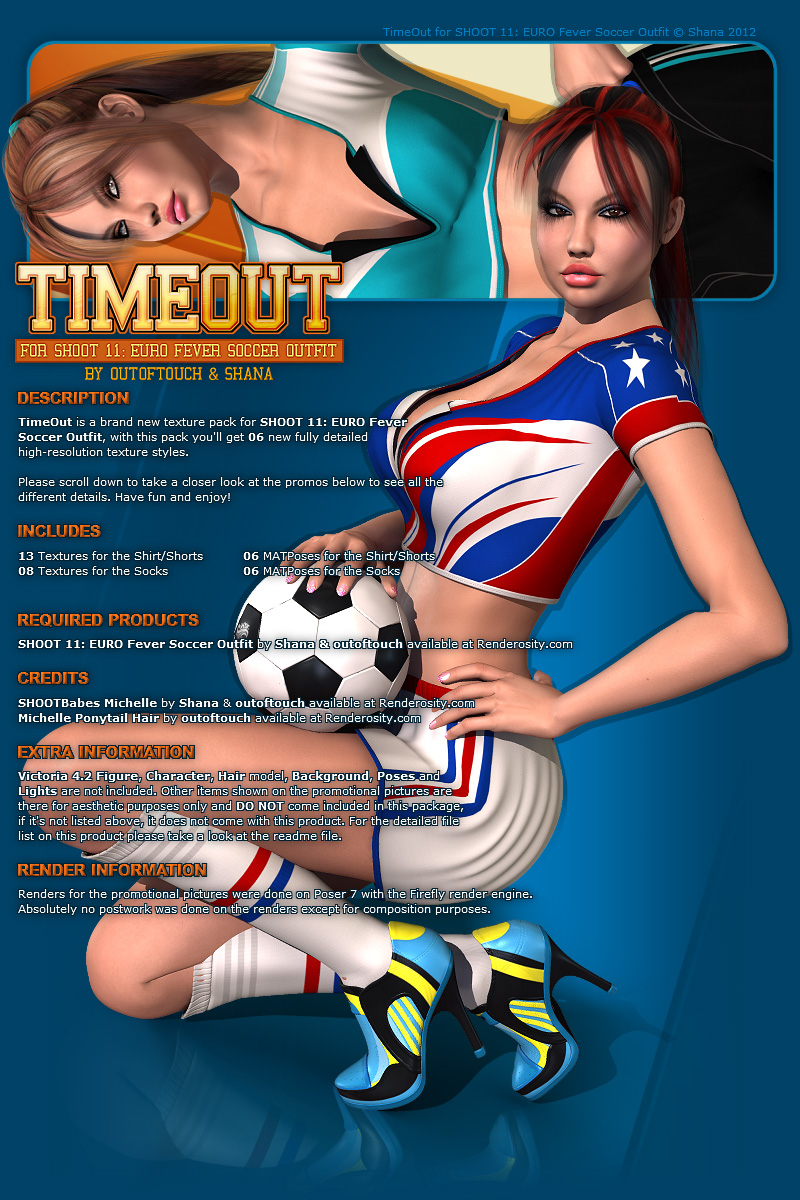 TimeOut for SHOOT 11: EURO Fever Soccer Outfit