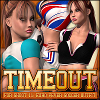TimeOut for SHOOT 11: EURO Fever Soccer Outfit 3D Figure Essentials ShanasSoulmate