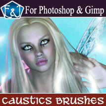 Caustics Brushes For Photoshop And GIMP 2D Graphics EmmaAndJordi