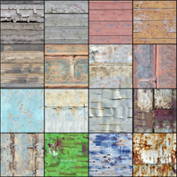 Set of surfaces wood and metal image 1