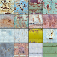 Set of surfaces wood and metal image 2