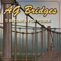 AG Bridges Themed Props/Scenes/Architecture AdamantGrafix