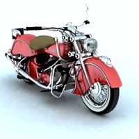 Indian Chief 348 1948 (for Vue) 3D Models Digimation_ModelBank