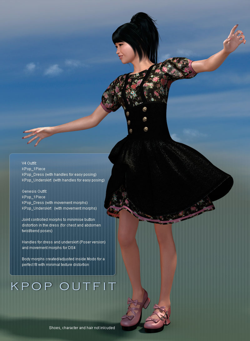 KPop Outfit for V4/Genesis