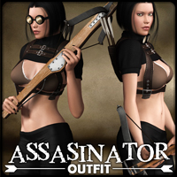 Assasinator - Outfit 3D Models 3D Figure Essentials mytilus