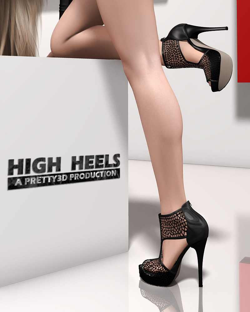 79d098aa88f High Heels by Pretty3D (). 3D Figure Assets • Footwear