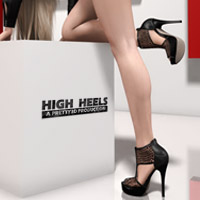 High Heels 3D Figure Assets Pretty3D