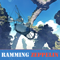 Ramming Zeppelin 3D Models 2D Graphics 1971s