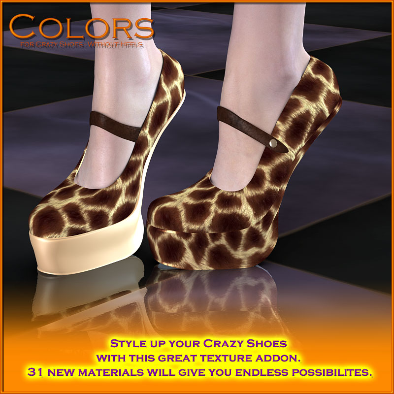 f7d56f37850 Colors for Crazy Shoes - Without Heels Poser Danmoria